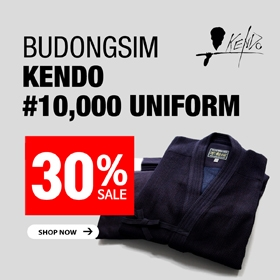 Kendo #10,000 Uniform 'BUDONGSIM' 30% SALE