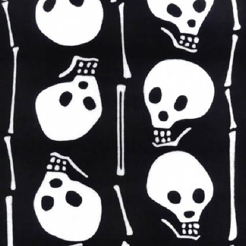 Japanese Tenugui - Skull (no.881)