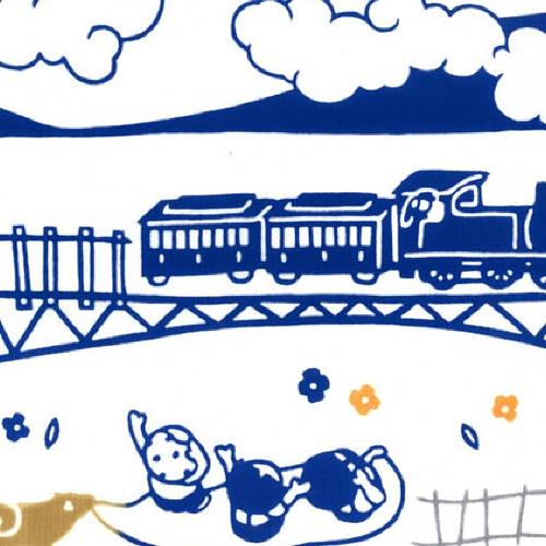 Japanese Tenugui - Train (no.938)