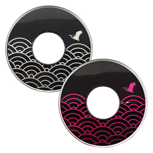 Tsuba - Japanese - Nami Chidori (waves and bird)